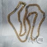 Pure ITALY 750 Solid 18krt Gold Cuban Dotted White Design | Jewelry for sale in Lagos State, Lagos Island