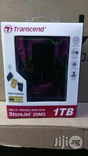 Trascend Usb 3.0 Portable Hard Drive 1TB | Computer Hardware for sale in Lagos State, Ikeja