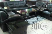 Black Leather Sofa as 990 | Furniture for sale in Lagos State, Ojo