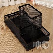 Universal Metal Mesh Office Desktop Organizer Pen Pencil Box Stationer   Stationery for sale in Lagos State