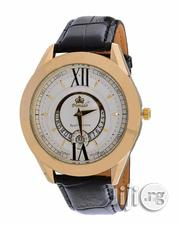 Promado Men's White Face Leather Wristwatch - Black | Watches for sale in Lagos State, Yaba