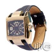 Promado B3043 18K GOLD Leather Black Face Watch - Black | Watches for sale in Lagos State, Surulere