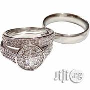 Crystal Studded Sterling Wedding Ring Set – Silver | Wedding Wear for sale in Lagos State, Ikeja