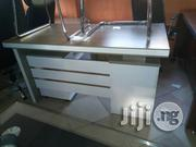 1.4 Meter Brown And White Office Table | Furniture for sale in Lagos State, Victoria Island