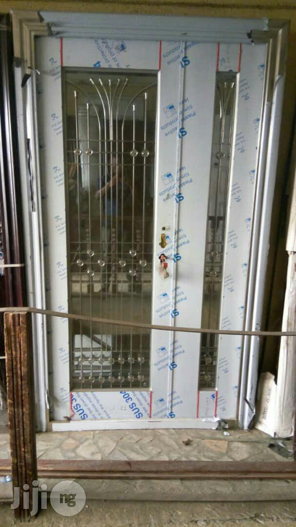 4ft Stainless Glass Door