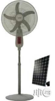 """18"""" Lontor Rechargeable Standing Fan + 20W Solar Panel 