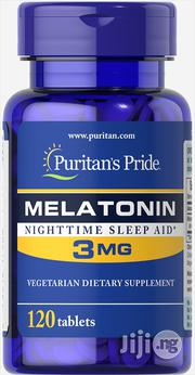 Puritans Pride Melatonin 3mg-120tablets | Vitamins & Supplements for sale in Lagos State, Surulere