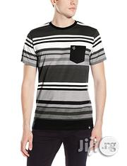 Southpole Men's Striped Crew Neck T-Shirt- Black/Multi   Clothing for sale in Lagos State