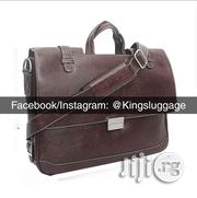 Brown Leather Briefcase | Bags for sale in Lagos State, Lagos Island