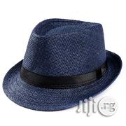 Men's Straw Fedora Hat - Blue | Clothing Accessories for sale in Lagos State, Lekki Phase 2