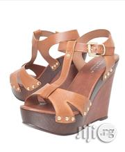 Platform Wedge Heel Leather Shoes Sandals | Shoes for sale in Lagos State