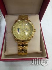 Men's Casio Edifice Series Gents Chain Wrist Watch - Gold | Watches for sale in Lagos State, Ikeja