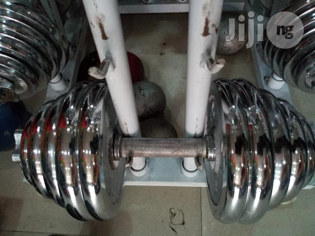 A Pair of 20kg Dumbell