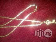 Original ITALY 750 Pure 18karat Gold Necklace Blade Tiny Design | Jewelry for sale in Lagos State