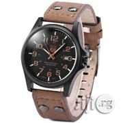 SOKI Male Quartz Watch With Date Leather Band Round Dial | Watches for sale in Lagos State, Ikeja