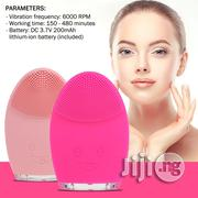 Electric Face Cleansing Brush Rechargeable Silicone Facial Cleanser | Massagers for sale in Lagos State, Ikeja