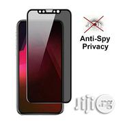 iPhone Xs Max - Tinted Privacy Full Tempered Glass Screen Protector | Accessories for Mobile Phones & Tablets for sale in Lagos State, Ikeja