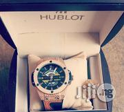 Main Original Hublot Wristwatch With Rubber Leather Strap | Watches for sale in Lagos State, Lagos Island