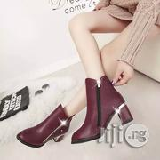 Brown Female Short Boots Side Zipper | Shoes for sale in Lagos State, Ikeja