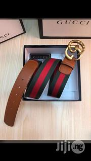 Gucci Leather Belt Original Unisex | Clothing Accessories for sale in Lagos State, Surulere