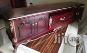 A New First Class Wooden Cristal Tv Shelve With Double Drawer | Furniture for sale in Lagos State, Ajah
