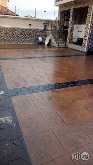 Stamped Concrete Floors Damp Proof Treatment In Lekki Phase 1