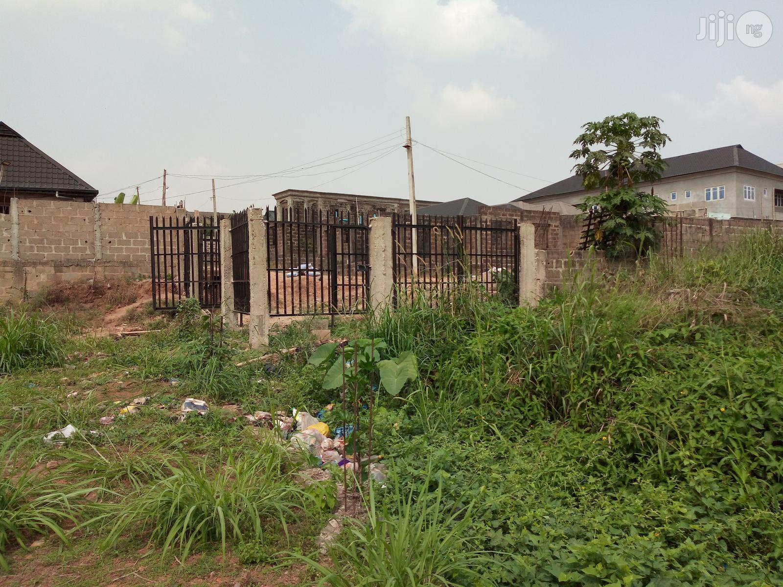 Half Plot of Land With Blocks on It in a Secure Estate at Peace Estat | Land & Plots For Sale for sale in Alimosho, Lagos State, Nigeria