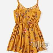 Chiffon V-Neck Playsuit | Clothing for sale in Abuja (FCT) State, Lugbe District