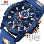 Army Military Mini Focus Silicone Strap Wrist Watch Male Blue Clock | Watches for sale in Lagos State, Ikeja