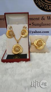 Bold Earring and Pendant Gold Plated Non Tarnishing | Jewelry for sale in Lagos State, Ajah