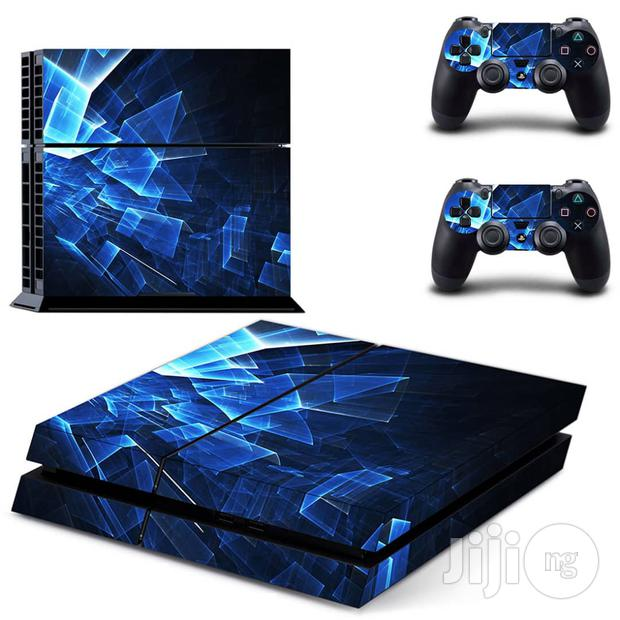 Generic Vinyl Sticker For Ps4 Slim Blue
