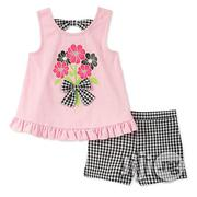 Kids Headquarters Girls' Little 2 Pieces Shorts Set | Children's Clothing for sale in Lagos State