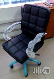 Plum Leather Office Executive Chair With Swivel Features.   Furniture for sale in Lagos State, Ikeja