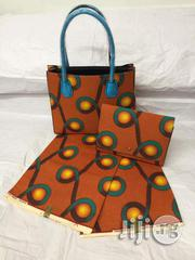 High Fabric 6yards Wax and Ankara Bag With Purse Imported Viii   Bags for sale in Imo State, Oguta