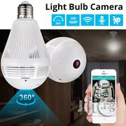 LED Light 960P Wireless Panoramic Home Security Wifi CCTV Fisheye Bulb Lamp IP Camera 360 | Security & Surveillance for sale in Lagos State, Ikeja