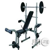 American Fitness Weight Bench Press With 50kg Weight | Sports Equipment for sale in Cross River State, Calabar