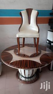 A New Royal Cristal Round Marble Dining Table by 6 Chair's | Furniture for sale in Lagos State, Ikotun/Igando