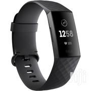 Fitbit Charge 3 Fitness Wristband (Black/Graphite Aluminum | Smart Watches & Trackers for sale in Lagos State, Ikeja