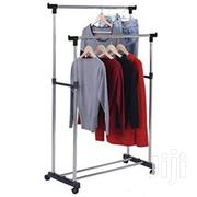 Generic Double Pole Rail Cloth Hanger Rack- Silver | Home Accessories for sale in Lagos State, Lagos Island
