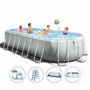 Intex 26798 Oval Above Ground Pool 610x305x122cm Prism Frame | Garden for sale in Lagos State, Ikorodu