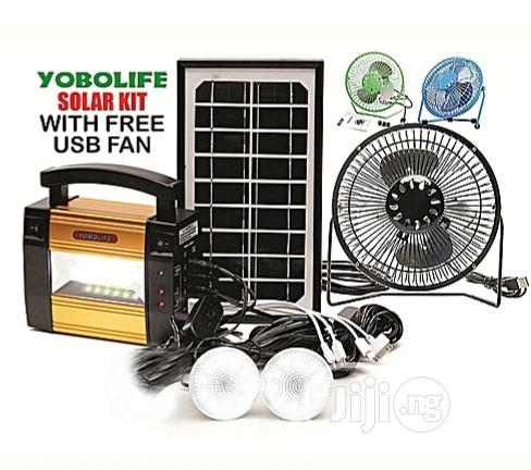 Solar Energy KIT Portable With Free USB Fan