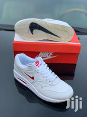Nike Airmax 1 Jewel Sneakers - White/Red | Shoes for sale in Lagos State, Ikeja