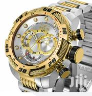 Invicta Men's Bolt Quartz Chronograph Gold N Silver Designers Watch | Watches for sale in Lagos State, Lagos Island