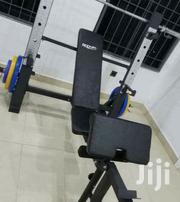 Commercial Weight Lifting Bench With Bar and 50kg Plate | Sports Equipment for sale in Ebonyi State, Afikpo North