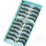 Shop From Us! 10 Pairs Natural 3D Reusable Eyelashes | Makeup for sale in Oyo State, Ibadan