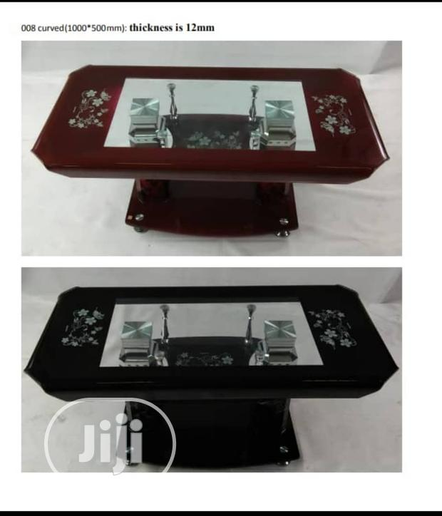 Solid Glass Center Table