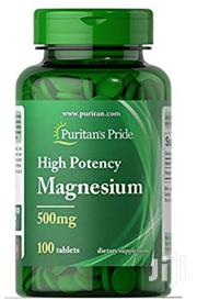 Puritan's Pride High Potency Magnesium Tablets, 500 Mg | Vitamins & Supplements for sale in Lagos State, Gbagada