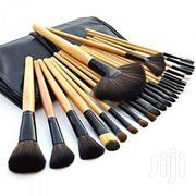 Professional Make Up Brushes With Leather Pouch - 24 Pieces | Makeup for sale in Lagos State, Ojo