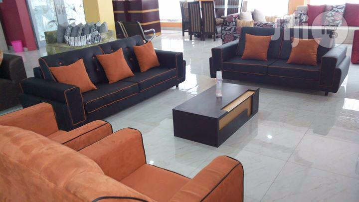 Durable Orange And Black Sofas And Upholstery Home Chairs