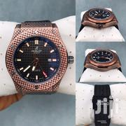 Original Carraebean Hublot Wristwatch With Rubber Leather Strap | Watches for sale in Lagos State, Lagos Island